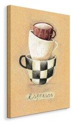 Cafe Espresso - Obraz na płótnie