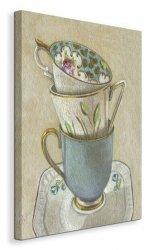 3 Cups on Saucer - Obraz na płótnie
