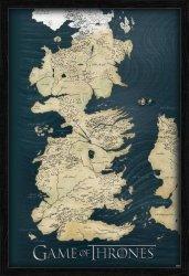 Obraz na ścianę - Gra o Tron Mapa - 61x91,5 cm