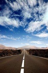 Fototapeta - Droga po horyzont - 115x175 cm
