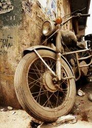 Stary motocykl - fototapeta 183x254 cm