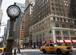 Zegar na Avenue, New York - fototapeta 254x183 cm