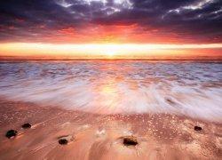 Fototapeta do salonu - Zachód słońca, Australia - 254x183 cm