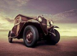 Luksusowy samochód, Vintage - fototapeta 320x230 cm