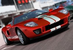 Czerwony sportowy samochód - fototapeta 366x254 cm