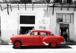 Cadillac, Havana Cuba - fototapeta 366x254 cm