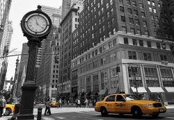 Fototapeta na ścianę - Zegar na Avenue, New York BW - 366x254 cm - Klej gratis!