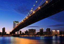 Fototapeta na ścianę - Zachód słońca, Manhattan - 366x254 cm
