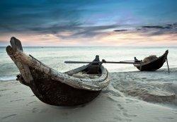 Fototapeta na ścianę - Stare łodzie, Wietnam - 366x254 cm