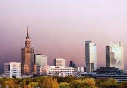 Fototapeta na ścianę - Warszawa, panorama miasta - 366x254 cm