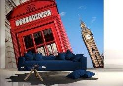 Fototapeta na ścianę - Big Ben i czerwona budka - 366x254 cm