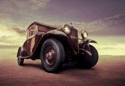 Fototapeta na ścianę - Luksusowy samochód, Vintage - 366x254 cm