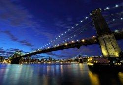 Fototapeta na ścianę - Brooklyn Bridge nocą - 366x254 cm
