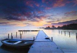 Fototapeta do sypialni - Wschód słońca - 366x254 cm - Klej Gratis!