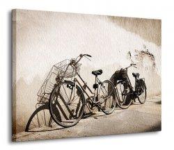 Stare rowery, Włochy - Obraz na płótnie