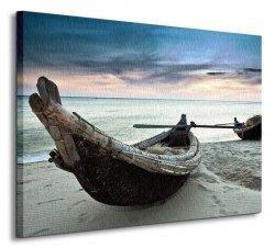 Stare łodzie, Wietnam - Obraz na płótnie