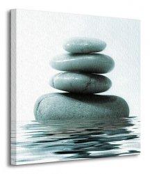 Kamienie na Wodzie - Obraz na płótnie