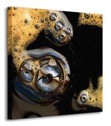 Kawa z bąbelkami - Obraz na płótnie
