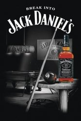 Jack Daniel's - Pool - Billiard - plakat