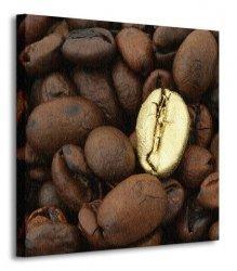 Złote Ziarno Kawy, metamorfoza - Obraz na płótnie