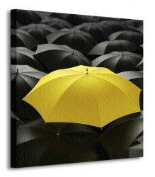 Żółta parasolka - Obraz na płótnie
