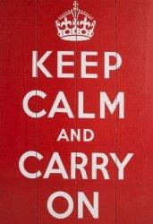Obraz na drewnie - Keep Calm And Carry On