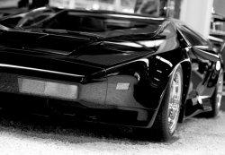 Czarna bestia (Sport car) - fototapeta 366x254 cm