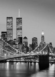 Fototapeta ścienna - Nowy Jork, Manhattan BW - 183x254cm