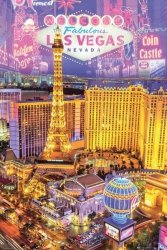 Las Vegas oświetlone budynki - plakat