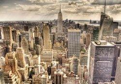 Fototapeta na ścianę - New York, sleepless sepia - 366x254 cm