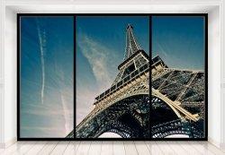 Fototapeta na ścianę - Wieża Eiffela (window) - 366x254 cm
