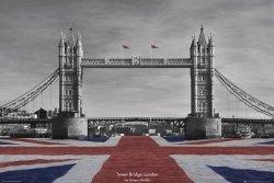 Londyn - Tower Bridge by Tanya Chalkin - plakat