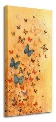 Obraz do sypialni - Butterflies On Warm Ochre