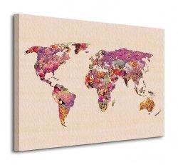 Obraz do salonu - Our Wonderful World (Mapa) - 80x60 cm