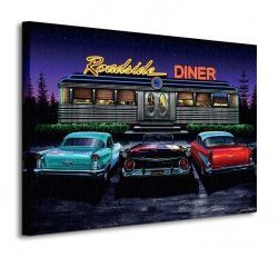 Obraz do salonu - Roadside Diner - 80x60cm