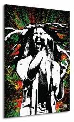 Obraz na płótnie - Bob Marley (Paint)