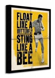 Muhammad Ali (Float Like A Butterfly - Corbis) - Obraz na płótnie