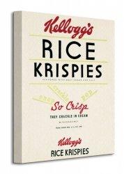 Vintage Kelloggs (Rice Krispies) - Obraz na płótnie