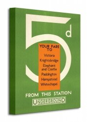 Transport for London (5d Your Fare to: Victoria) - Obraz na płótnie