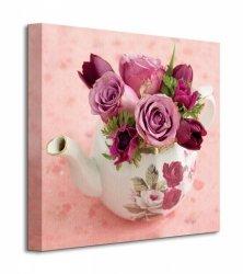Floral Tea Pot - Obraz na płótnie