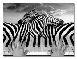 Obraz na płótnie - Piano Peace (Zebra) - 80x60 cm