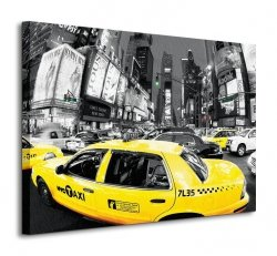 Rush Hour Times Square (Yellow Cabs) - Obraz na płótnie