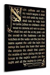 Game of Thrones (Season 3 - Nightwatch Oath) - Obraz na płótnie