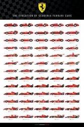 Ferrari F1 Bolid Ewolucja Scuderia Cars - plakat