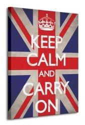 Keep Calm and Carry On (Union Jack) - Obraz na płótnie
