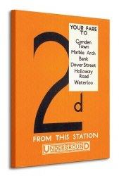 Transport for London (2d Your Fare to: Camden Town) - Obraz na płótnie