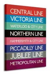 Transport for London (London Transport Tube Lines) - Obraz na płótnie