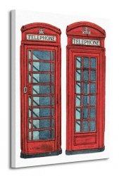 Telephone Boxes - Obraz na płótnie