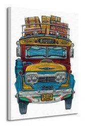 Columbian Bus - Obraz na płótnie