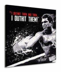 Muhammad Ali (Outwit Outhit) - Obraz na płótnie